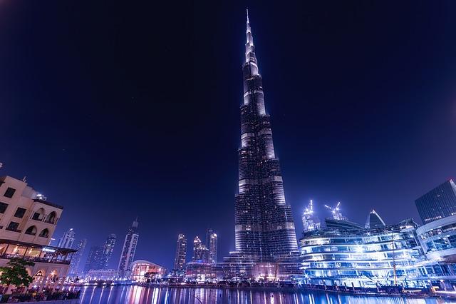 Nočný pohľad na Burj Khalifa.jpg