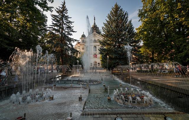 Spievajúca fontána a divadlo v Košiciach